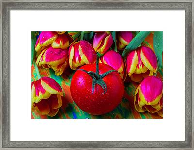 Tomato And Tulips Framed Print