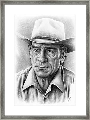 Tommy Lee Jones Framed Print