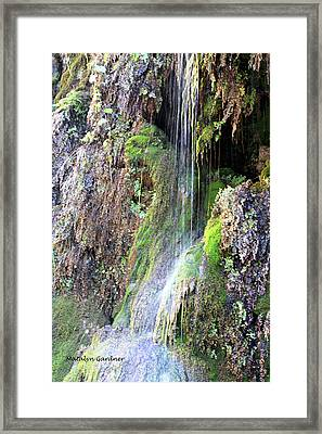 Tonto Waterfall Cave Framed Print