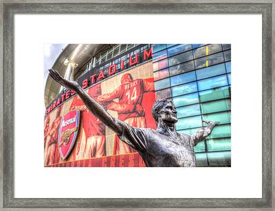 Tony Adams Statue Emirates Stadium Framed Print by David Pyatt