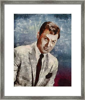 Tony Curtis Vintage Hollywood Actor Framed Print by Mary Bassett