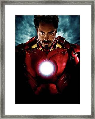 Tony Stark Iron Man Framed Print