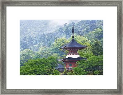 Top Of A Pagoda Framed Print