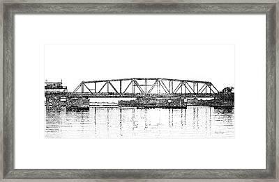 Topsail Island Swing Bridge Framed Print