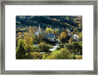 Topsham Village Vermont Framed Print