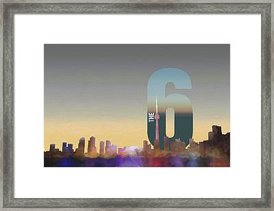 Toronto Skyline - The Six Framed Print by Serge Averbukh
