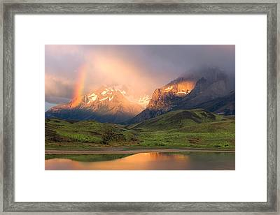 Torres Del Paine - Patagonia Framed Print by Carl Amoth