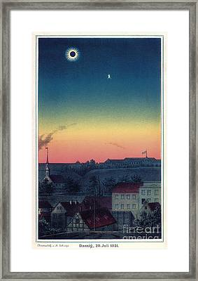 Total Solar Eclipse, 1851 Artwork Framed Print