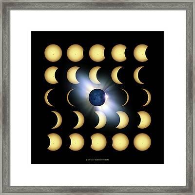 Total Solar Eclipse, Artwork Framed Print