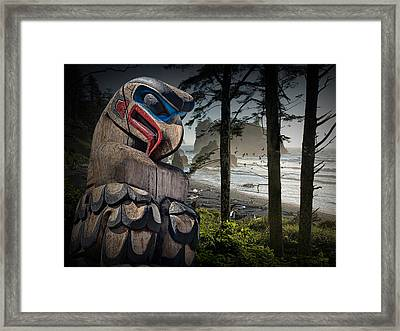 Totem Pole In The Pacific Northwest Framed Print