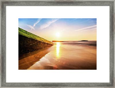 Touching The Golden Cloud Framed Print by Thierry Bouriat