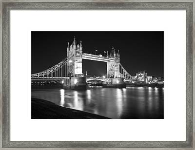 Tower Bridge On The Thames London Framed Print by David French
