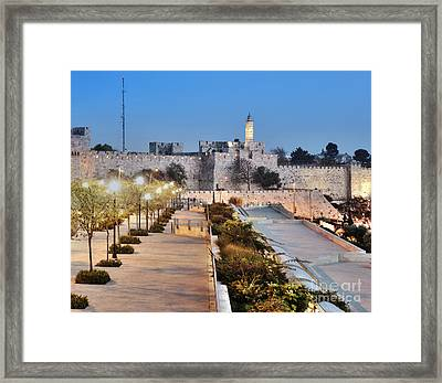 Tower Of David Framed Print by Noam Armonn