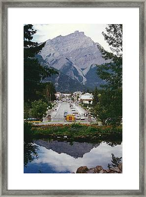 Town Of Banff Framed Print by Shirley Sirois