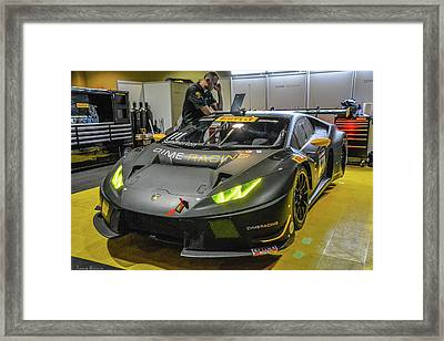 Toyota Grand Prix Pit Framed Print