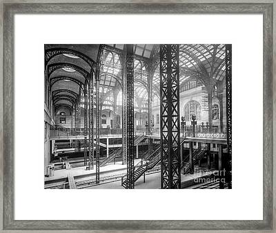 Track Level And Concourses Pennsylvania Station New York Framed Print by Russ Brown