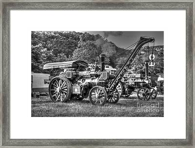 Traction Engine With Crane Framed Print by Rod Jones