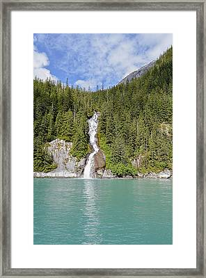 Tracy Arm Fjord Waterfall 1  Framed Print