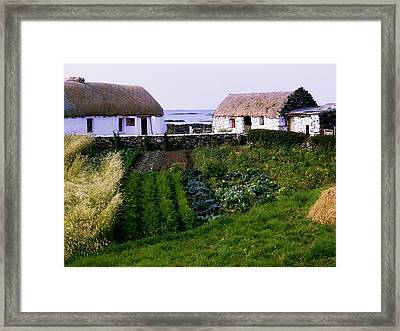 Traditional Cottages, Co Galway, Ireland Framed Print