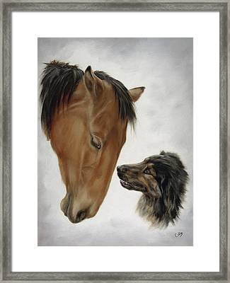 Trail Mates Framed Print by Cathy Cleveland