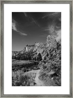 Trail To The Monkey Framed Print