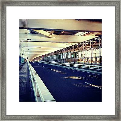 #train #電車 Framed Print by Bow Sanpo