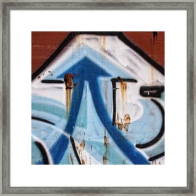 Train Graffiti Double Arrow Framed Print