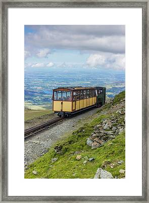 Framed Print featuring the photograph Train To Snowdon by Ian Mitchell