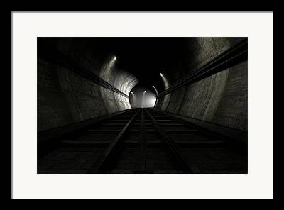 Tunnels Framed Prints