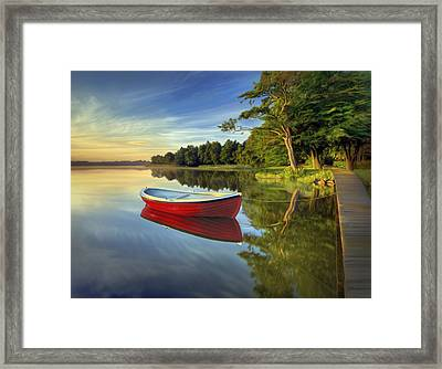 Tranquil Reflection Framed Print by James Charles