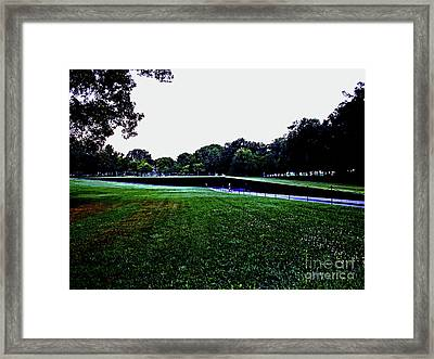 Tranquility At Sunrise  Vietnam Memorial Framed Print