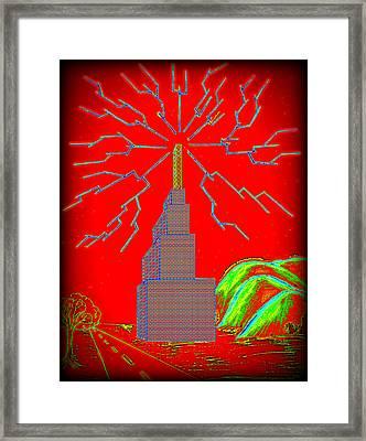 Transmission Tower Framed Print