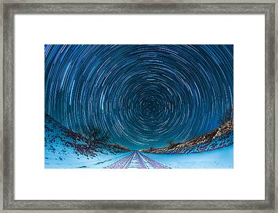 Travel North  Framed Print