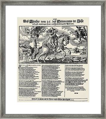 Treaty Of Munster, 1648 Framed Print by Granger