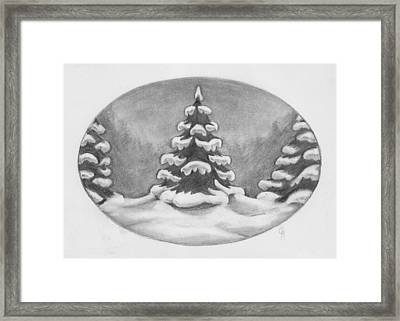 Tree Frosting Framed Print by Cheri Crawford