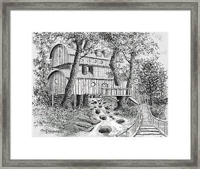 Tree House #5 Framed Print by Jim Hubbard