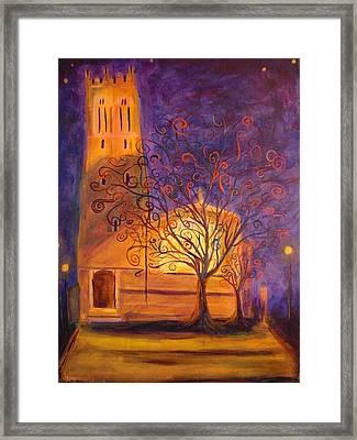 Tree In Ghent Framed Print by Lauren Mooney Bear