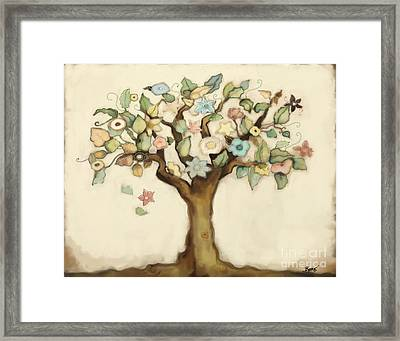 Tree Of Life And Love Framed Print