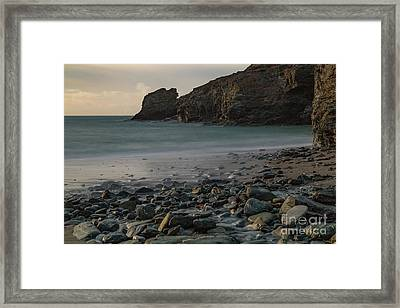 Framed Print featuring the photograph Trevellas Cove by Brian Roscorla