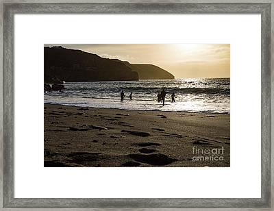 Framed Print featuring the photograph Photographs Of Cornwall Trevellas Cove Cornwall by Brian Roscorla