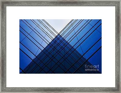 Triangle Reflection Framed Print by Hideaki Sakurai