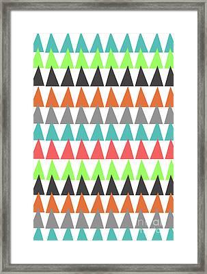 Triangles Framed Print