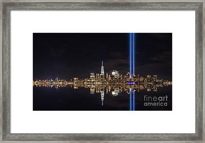 Tribute In Light Reflections  Framed Print