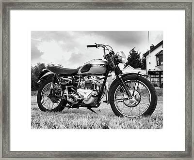 Triumph Trophy Tr6 Framed Print by Mark Rogan