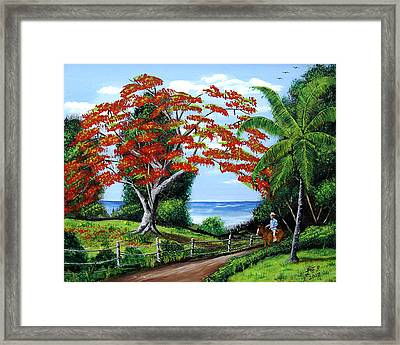Tropical Landscape Framed Print