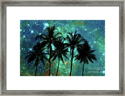 Tropical Night Framed Print by Delphimages Photo Creations