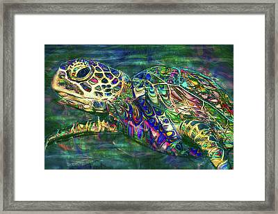 Tropical Sea Turtle 2 Framed Print by Jack Zulli