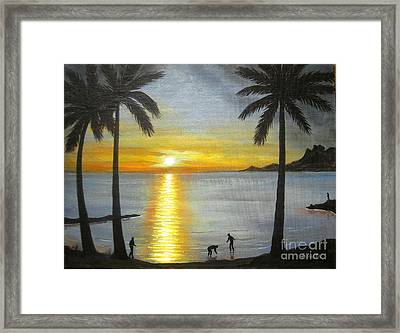 Tropical Splendor Framed Print