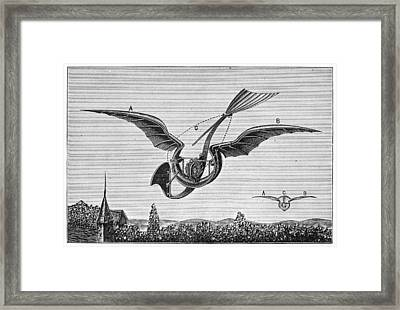 Trouv�s Ornithopter Framed Print
