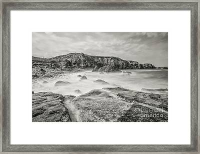 Trow Rocks From Graham Sands Framed Print by Andy Blakey